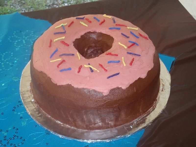 Giant Donut Cake The Cake Lady