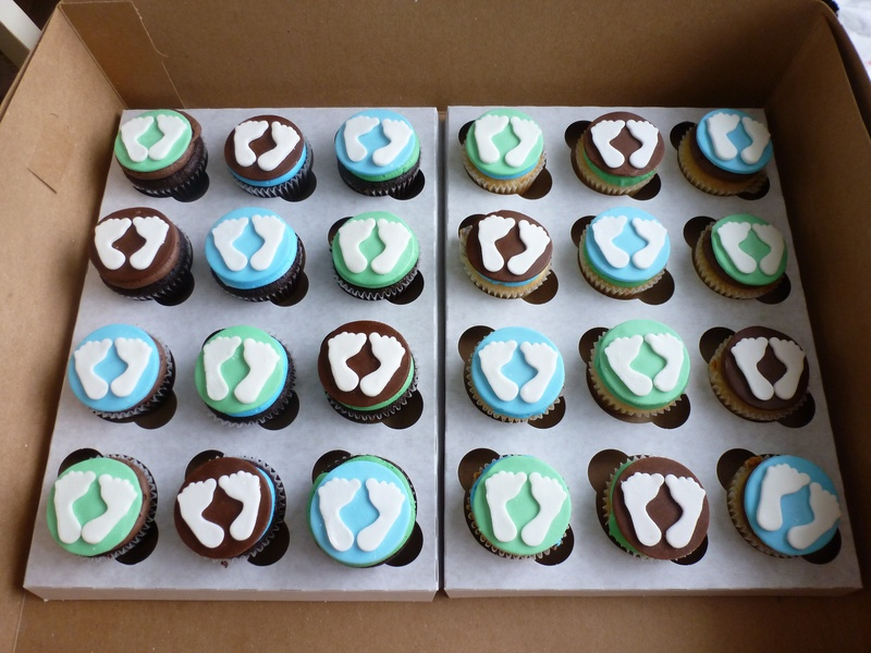 Baby Feet Shower Cupcakes