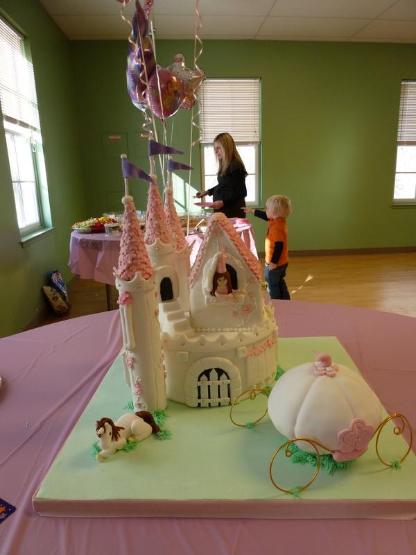Princess Castle Carriage Unicorn Cake