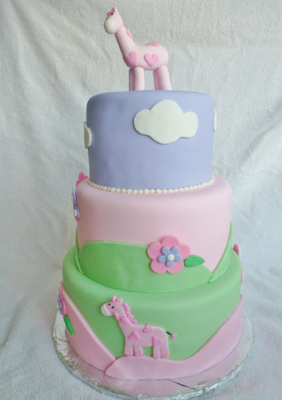 Giraffe Girl Baby shower cake